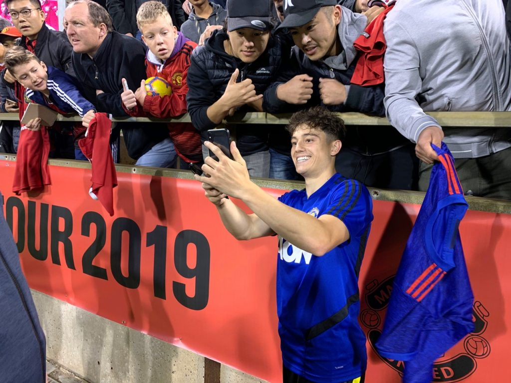 Daniel James aspires to be like Manchester United great Ryan Giggs after impressing on his debut against Perth Glory.