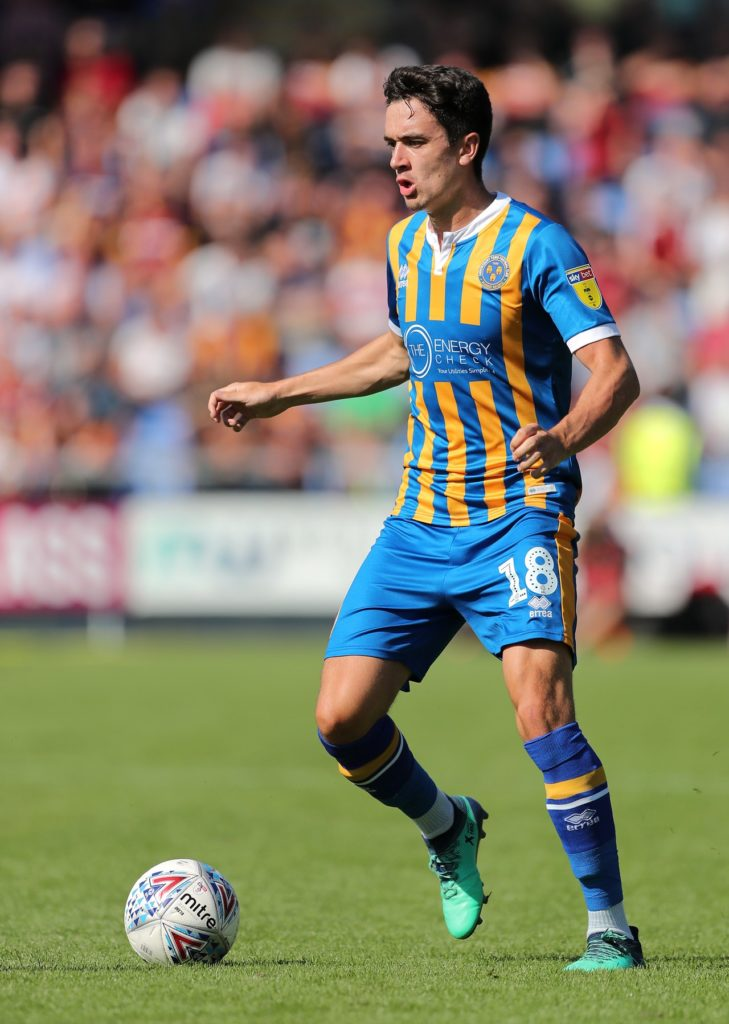 Shrewsbury winger Alex Gilliead has joined Scunthorpe on a two-year deal.
