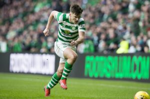 Arsenal target Kieran Tierney is still being dogged by a pelvic problem and the Celtic player won't be fit to play for another month.