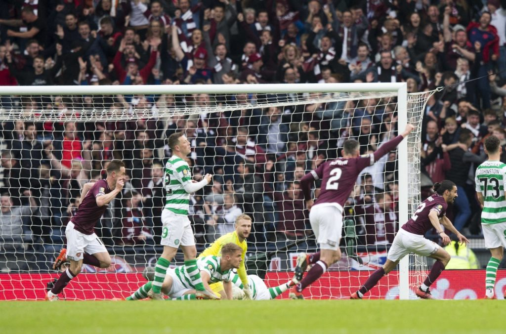 Midfielder Ryan Edwards has signed a two-year deal with Burton - just two months after scoring for Hearts in the Scottish FA Cup final.
