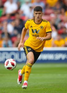 Shrewsbury have swooped to sign Wolves defender Ryan Giles on a season-long loan.