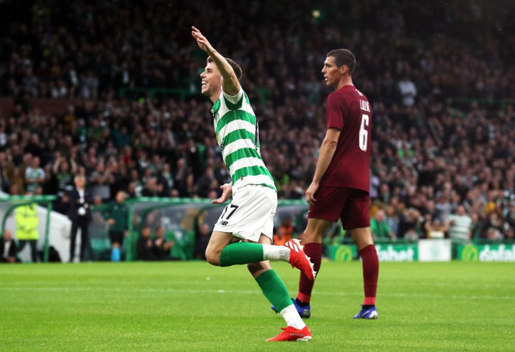 Leigh Griffiths made his comeback as Celtic eased past Sarajevo in the Champions League qualifiers.