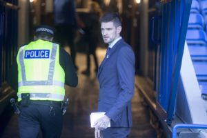 Steven Gerrard says Rangers must move forward without Kyle Lafferty after the striker's contract was terminated by mutual consent.