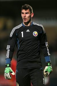 Juventus goalkeeper Laurentiu Branescu has become Angelo Alessio's first signing as Kilmarnock manager.