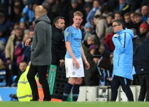Manchester City midfielder Kevin de Bruyne says he would be open to taking on the responsibility of captaining the club next season.
