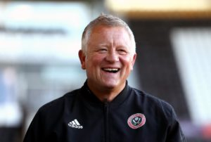 Sheffield United boss Chris Wilder salutes Sharp strike.