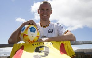 Hamilton striker George Oakley admits he is stunned to see Kenny Miller still kicking a ball for a living at the age of 39.