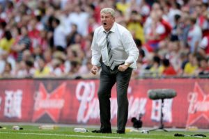 Steve Bruce has spoken of the 'huge challenge' ahead after being appointed as Newcastle United's new head coach on a three-year deal.