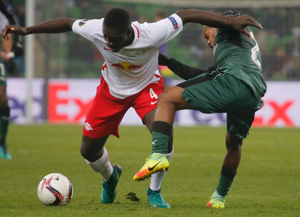 RB Leipzig face a fight to keep star defender Dayot Upamecano this summer with AC Milan heavily linked with a swoop.