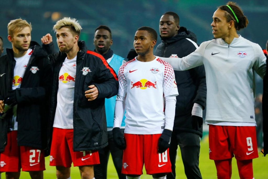 Ademola Lookman during his first spell with RB Leipzig.