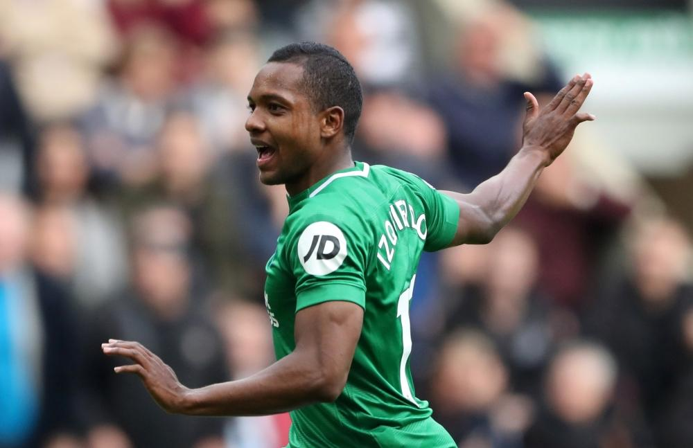 Brighton boss Graham Potter says winger Jose Izquierdo will be given time to work his way back to full fitness.