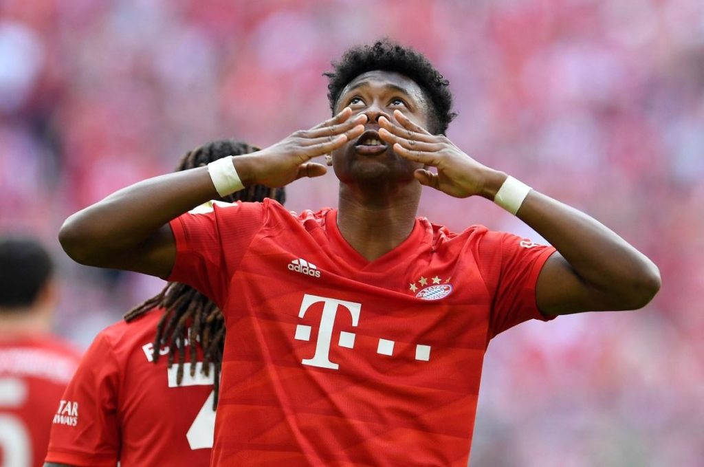 Bayern Munich defender David Alaba is closing on a return to action.