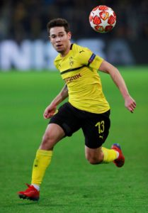 Borussia Dortmund full-back Raphael Guerreiro is locked in contract talks.