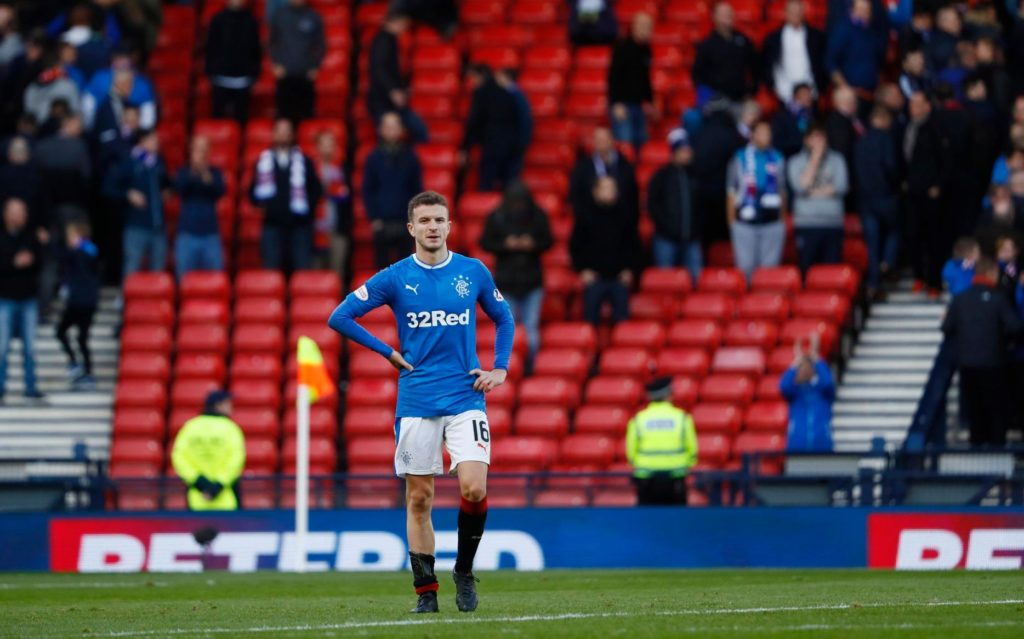 Rangers midfielder Andy Halliday has vowed to 'put things right' when they take on Progres Niederkorn in the Europa League.
