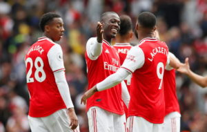 Unai Emery remained coy when quizzed on whether Nicolas Pepe, Alexandre Lacazette and Pierre-Emerick Aubameyang will all start in Sunday's North London derby.