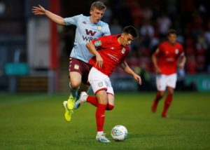 Aston Villa have concerns over the fitness of Matt Targett after he picked up a hamstring injury in the 6-1 victory at Crewe on Tuesday night.