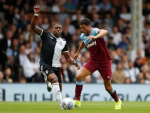 West Ham midfielder Pablo Fornals in action against Fulham in pre-season friendly