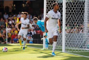 West Ham record-buy Sebastien Haller scored a second half double to help his side claim a 3-1 victory at Watford.