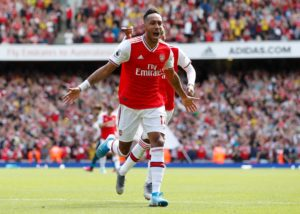 Pierre-Emerick Aubameyang was on target against Watford.