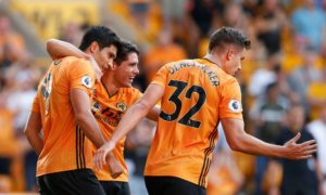 Raul Jimenez has been playing for Wolves with a fractured wrist.
