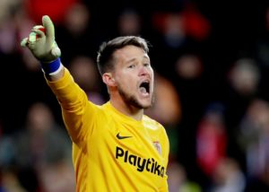 Goalkeeper Tomas Vaclik says he is happy to continue pushing himself to be the number one at Sevilla.