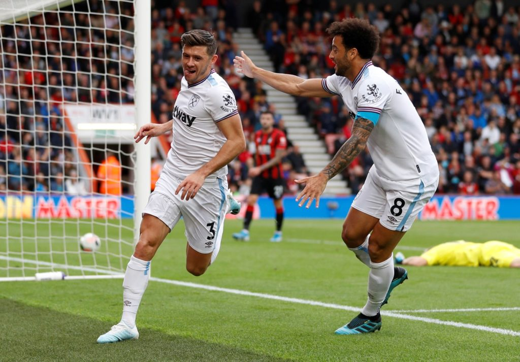 Fifth-placed West Ham travelled to sixth-placed Bournemouth down at the Vitality Stadium and the parity of sides was demonstrated as they played out a 2-2 draw.