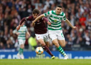 Southampton are tracking the progress of Hearts teenager Aaron Hickey closely but face competition for his signature from Manchester City.