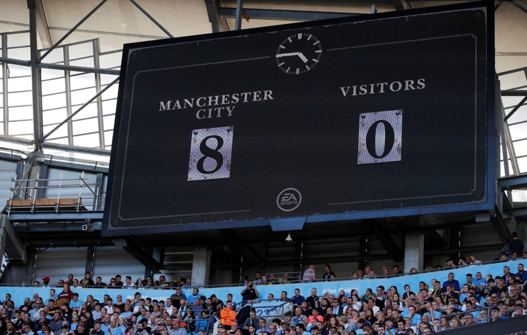 Champions Manchester City went goal crazy at the Etihad Stadium as they thrashed Watford 8-0, with Portuguese midfielder Bernardo Silva completing a hat-trick.
