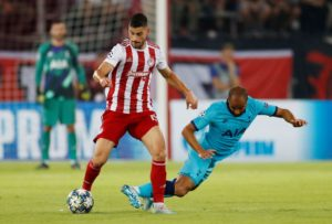 Norwich City scouted Olympiakos' 2-2 Cham pions League draw with Tottenham Hotspur last week and could be keeping tabs on winger Giorgos Masouras again,