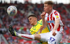 Stoke City face a battle to retain the services of youngster Nathan Collins, with Manchester United keeping a close eye on the defender.