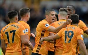 Wolves picked up their first Premier League victory of the season as they overcame rock-bottom Watford 2-0 at Molineux.