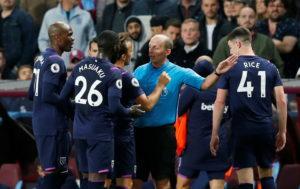 Aston Villa were held to a goalless Premier League draw against ten-man West Ham, who had Arthur Masuaka sent off at Villa Park on Monday night.