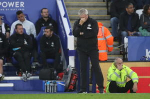 """Steve Bruce accused his Newcastle side of """"complete surrender"""" as they suffered a 5-0 humiliation at the hands of Leicester City on Sunday."""