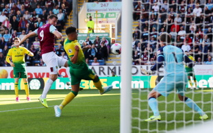 Sean Dyche had special praise for Chris Wood after he broke his scoring duck for the season with two goals in the win against Norwich on Saturday.