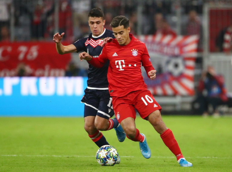 Philippe Coutinho is shining for Bayern.