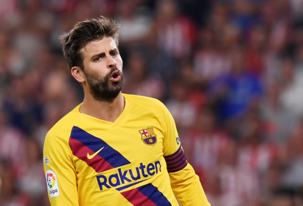 "Gerard Pique claims the Barcelona players are ""not worried"" about their slow start to the season after Saturday's 2-2 draw against Osasuna."