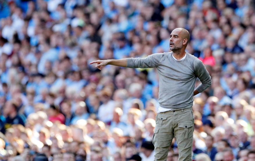 "Pep Guardiola called rampant Manchester City a ""joy to watch"" after they ripped apart Watford in record-breaking fashion to rack up an 8-0 win."