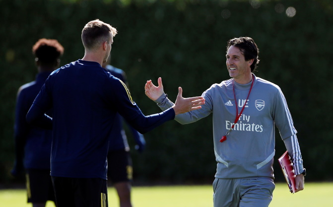 Arsenal could call on Rob Holding, Hector Bellerin and Kieran Tierney when they face Nottingham Forest in the Carabao Cup on Tuesday night.