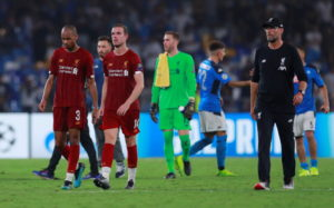 Liverpool lost away against Napoli.