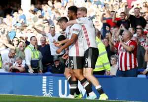 Sheffield United ended Everton's unbeaten home run in the Premier League with a 2-0 victory at Goodison Park.