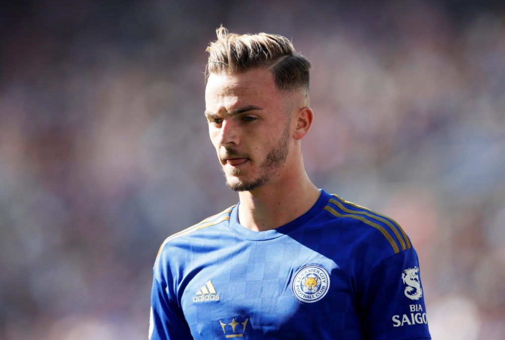 Leicester City midfielder James Maddison.