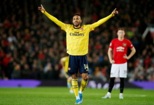 Pierre-Emerick Aubameyang earned Arsenal a point as they came from behind to draw 1-1 against Manchester United at Old Trafford.