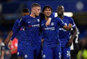 Frank Lampard saluted his Chelsea rookies after they secured his first home win as Chelsea boss by thumping League Two Grimsby 7-1 in the Carabao Cup.