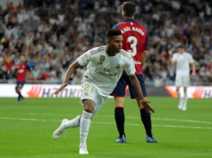 Zinedine Zidane says Real Madrid have to kick on after moving back to the top of La Liga with a 2-0 win over Osasuna.