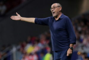 Juventus coach Maurizio Sarri is demanding more aggression from his side after they let a 2-0 lead slip against Atletico Madrid on Wednesday night.