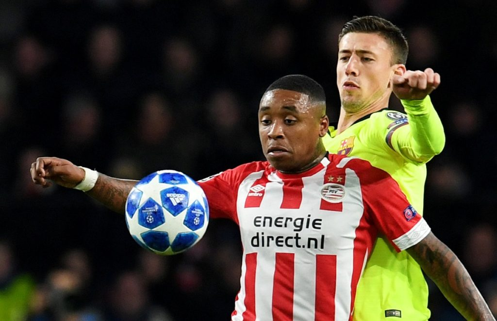 PSV Eindhoven star Steven Bergwijn has been forced to withdraw from the Netherlands squad after picking up a knock against RKC Waalwijk on Sunday.