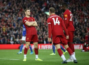 A last-gasp James Milner penalty kept Liverpool's 100 per cent Premier League record intact as they edged out Leicester City 2-1 at Anfield.