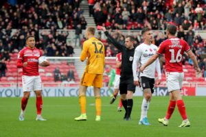 Middlesbrough's goalscoring problems continued as 10-man Fulham left the Riverside Stadium with a point and a goalless draw.