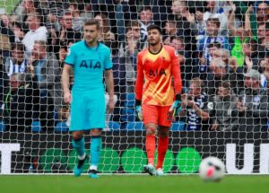 Brighton and Hove Albion deepened the woes of Tottenham Hotspur by romping to a comprehensive 3-0 victory at the Amex Stadium.