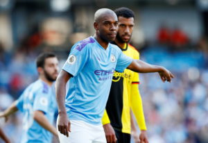 Fernandinho will miss out against Saints.